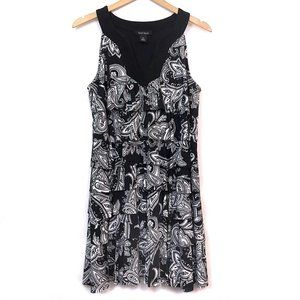 WHBM WHITE HOUSE BLACK MARKET Ruffle Paisley Dress